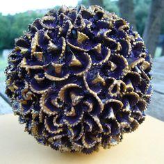 Cómo hacer una bola decorativa con pasta.