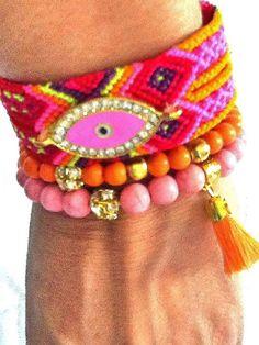 SALEARM CANDY  bohemian bracelet  gypsy bracelet evil by Nezihe1