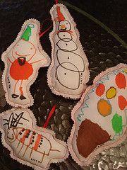 kid's art ornaments