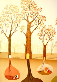 """""""The Great Paper Caper"""" illustration by Oliver Jeffers"""