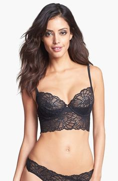Josie Underwire Long Line Mesh Bra available at #Nordstrom