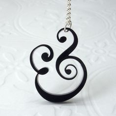 Epershand Ampersand Necklace by Isette on Etsy, $28.00