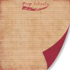 Pink Paislee - Old School Collection - 12 x 12 Double Sided Paper - Prep School at Scrapbook.com $0.43