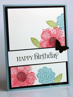 Stampin' Up! Raining Flowers Birthday Card