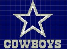 Dallas Cowboys Crochet Chart/Graph Pattern/ my son would love this