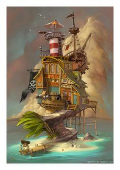 Pirates cabin