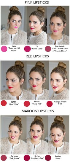 lipsticks, hair colors, makeup, pink lips, lip colors