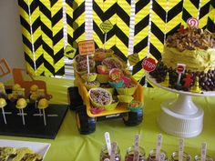 Dessert Table at a Construction Party #construction #party