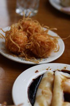 Fried shrimp ball & shrimp steam roll...me  my bf's fav
