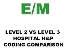 E/M Lecture:  Level 2 vs Level 3 Hospital H&P Side-By-Side Comparison financ report, np stuff, work stuff, medic stuff