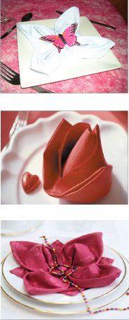 Serviette fold card on pinterest 25 pins for Pliage serviette bouton de rose