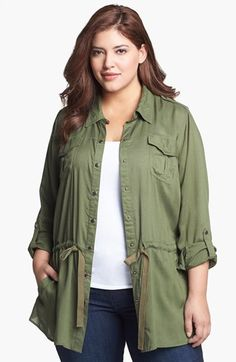 #Plus #Size Military Jacket