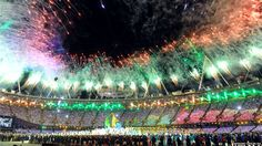 Fireworks during the closing ceremony #London2012