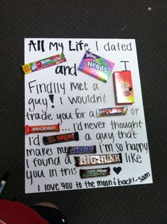 gift ideas for boyfriend | Gift for the boyfriend(: | Cute Gift Ideas