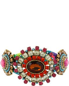 ST BARTS MULTI HINGED BANGLE MULTI accessories jewelry bracelets fashion