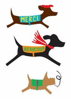 R. Nichols French Doggies note cards...