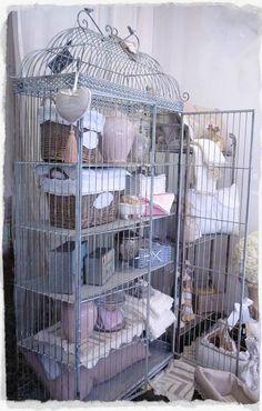shabbi chic, birdcag, display