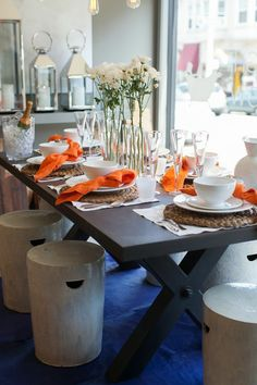 ceramic stools for extra outdoor seating