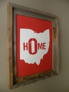 Ohio Home Print. $22.00, via Etsy.