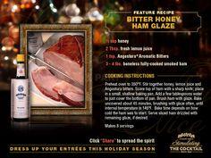 Honey Ham Glaze with #Angostura aromatic #Bitters, #Holiday #Food ...