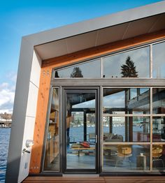 floating home on Seattle's Portage Bay, US