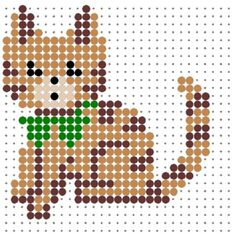 Cat Perler Bead Pattern