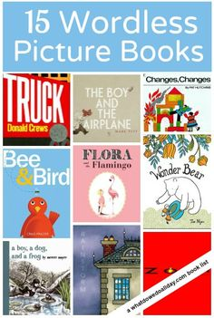 Wordless books are a great way to get kids of different ages engaged in storytelling.