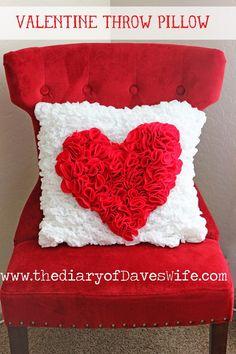 Valentine Throw Pillow #yearofcelebrations