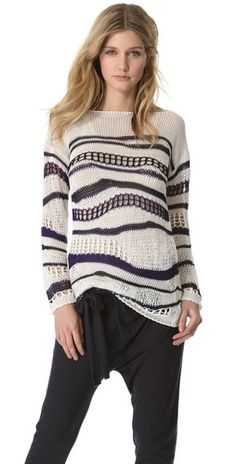 lookse-knit sweater