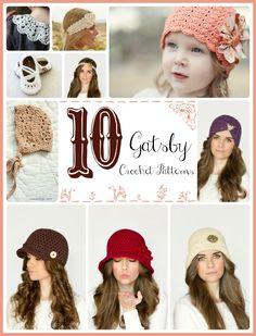 10 Free Great Gatsby Inspired Crochet Patterns