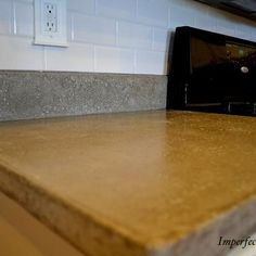 How to Pour Your Own Concrete Countertops {countertops}