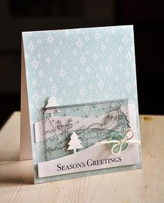 Season's Greetings Card by Maile Belles for Papertrey Ink (September 2014)