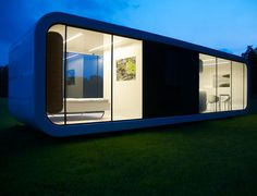 Coodo Modular Units Coodo is an architectural office located in Slovenia that has developed a line of modular units that are perfectly modern and would work just about anywhere. Each unit can be customized to the owner's needs and specifications. They've designed a multi-functional pavilion, a pergola, a summer kitchen, mobile living units (small summer houses), and a residential building (i.e., a house/condo). I love the rounded corners and simple designs, making these a great option for people looking for small modular spaces.