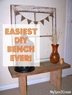 My Love 2 Create: Easiest DIY Bench Ever!