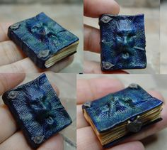 Miniature leather book by Ericka Van Horn