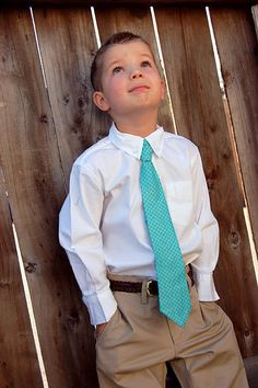 DIY Faux ties for little boys!