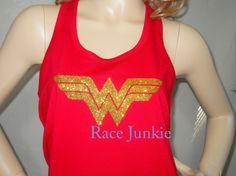 Wonder Woman Unisex American Apparel Loose Fit Tank by RaceJunkie, $22.99 size Medium