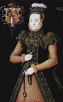 A Portrait of a Lady, possibly Eleanor Brandon, daughter of Charles Brandon and Mary Tudor, or Eleanor's daughter, Margaret. Portrait by Hans Eworth.