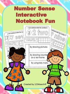 Start your students off with their first interactive notebook to learn number sense. Just a few simple square shapes to cut and paste for each page for young students just learning to use scissors. Grab this at a very low price.