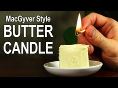 How To Make An Emergency Candle From Butter & Toilet Paper