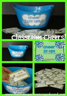 Bring some fun and excitement to your classroom successes with these fun cheers!  CHEER IT UP!
