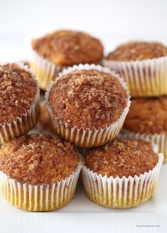 Pumpkin snickerdoodle muffins made from a cake mix! These are so good! #dessert #recipes