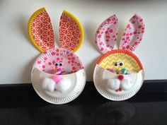 easter crafts, paper plates, kid