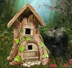 Tree Fairy House for the fairy garden.