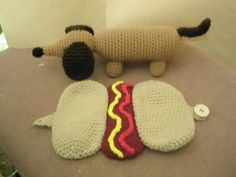 Dachshund in a Hot Dog Bun - only $3.00 on craftsy :)