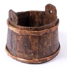 Wooden bucket from the Mary Rose. I'm wondering about the stubs of what look like pegs. Volume markers? Repairs?