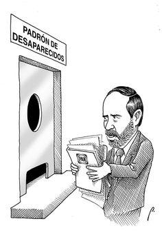 """""""Extraviado"""" Cartón de Perujo #humor #política #méxico"""