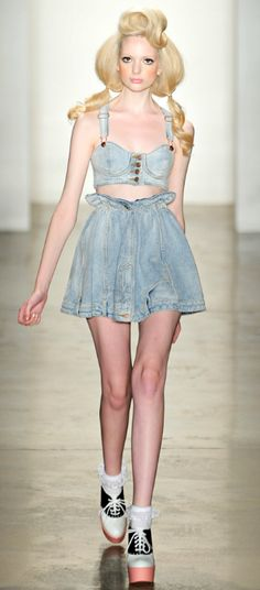 fashion, style, scott spring, denim, jeremi scotthair, 2012 readytowear, cutejeremi scott, spring 2012, jeremy scott