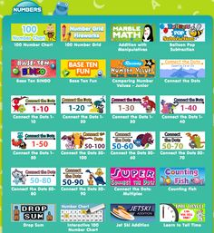 FREE Online Games from ABC'ya!  Math and Reading!