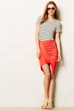 Draped Pencil Skirt - anthropologie.com